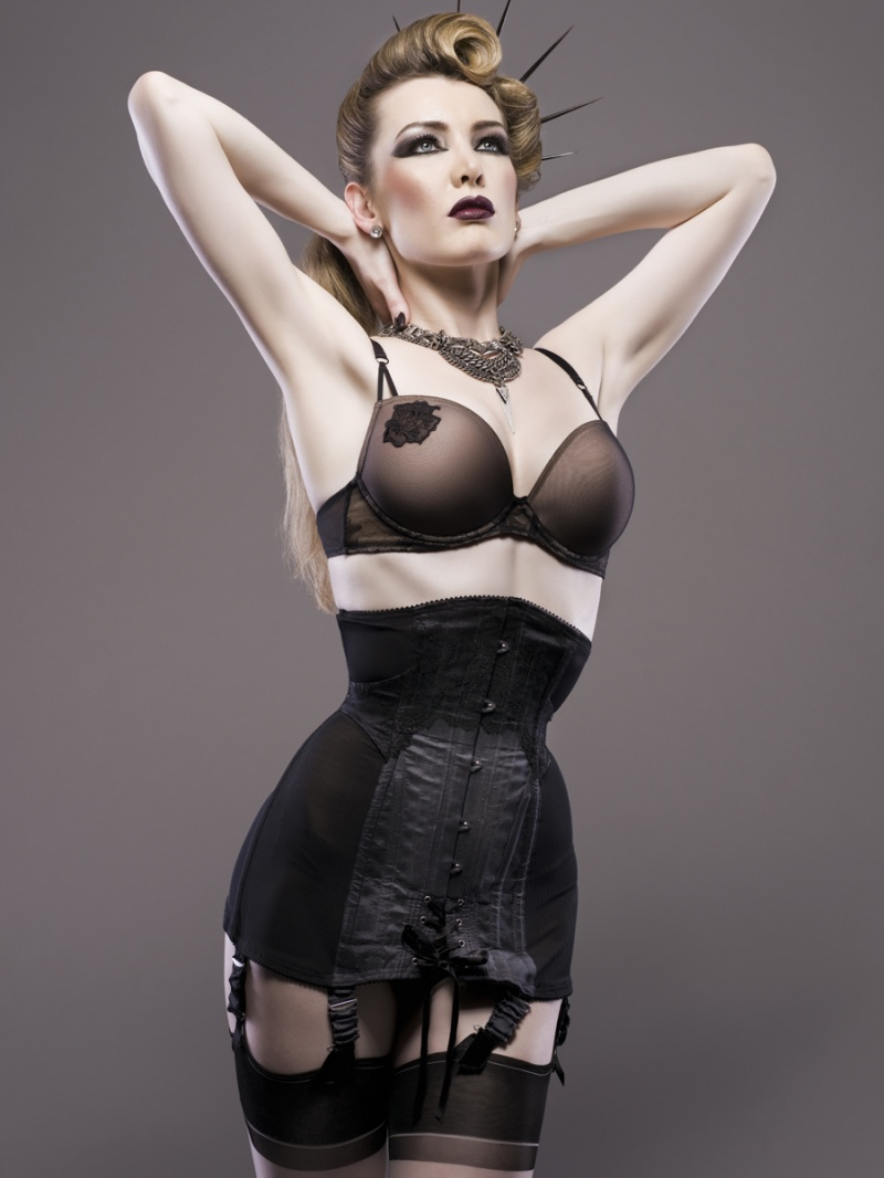 Birmingham Dec 03, 2011 Sian Hoffman girdle corset, shot by Julian M Kilsby. Makeup by Mani Kaur, hair and outfit styling by me.