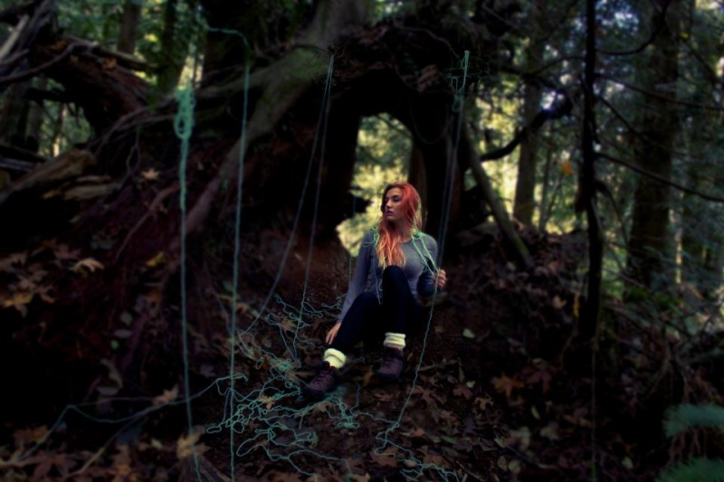 Female model photo shoot of Kelsey Swanson  in Woods, WA