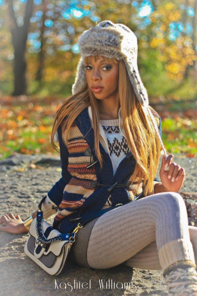 Female model photo shoot of Leodee Dawson in Central Park New York