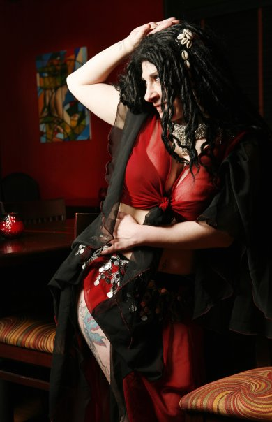 Female model photo shoot of Randi Pixie  Bruner in Divan Resturant and Lounge- ATL, GA