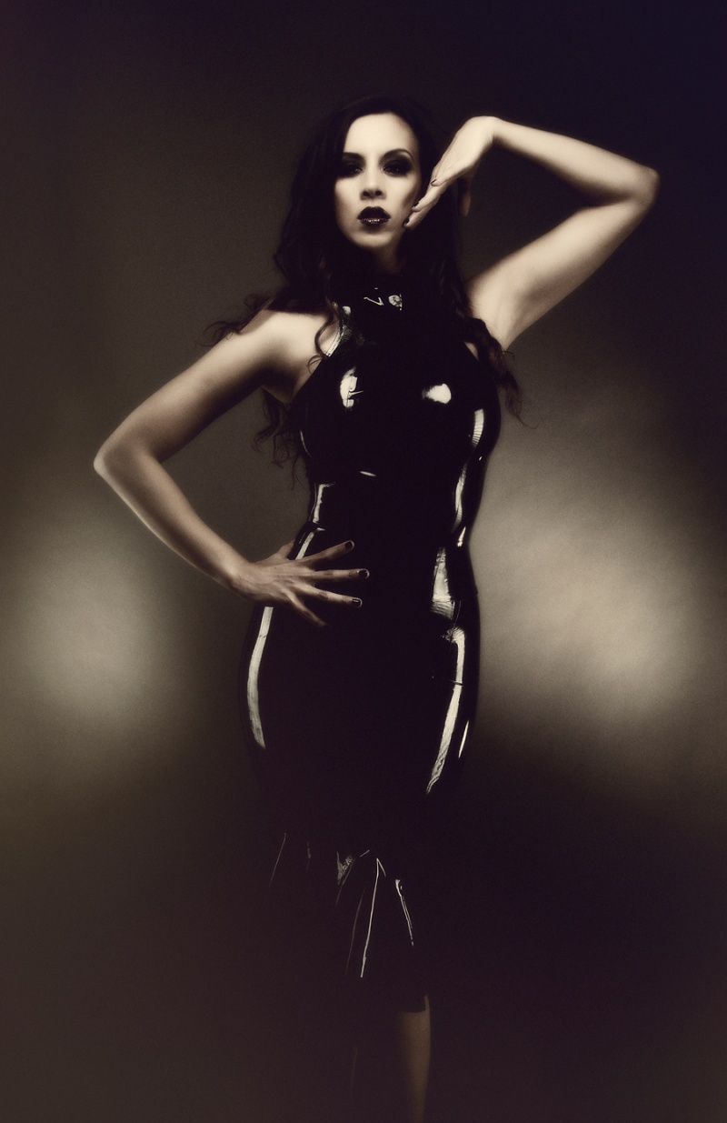 latex by madame s, mua. mac Dec 21, 2011 dividing me kerri taylor black latex dress