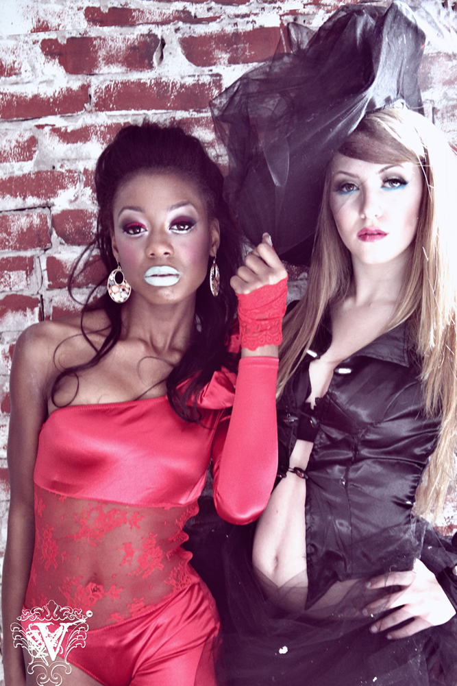 Female model photo shoot of Victoria Lara - Goretsky, Eve Gafuray and Sydney Rose Sutton in Hollywood, makeup by MBS Makeup