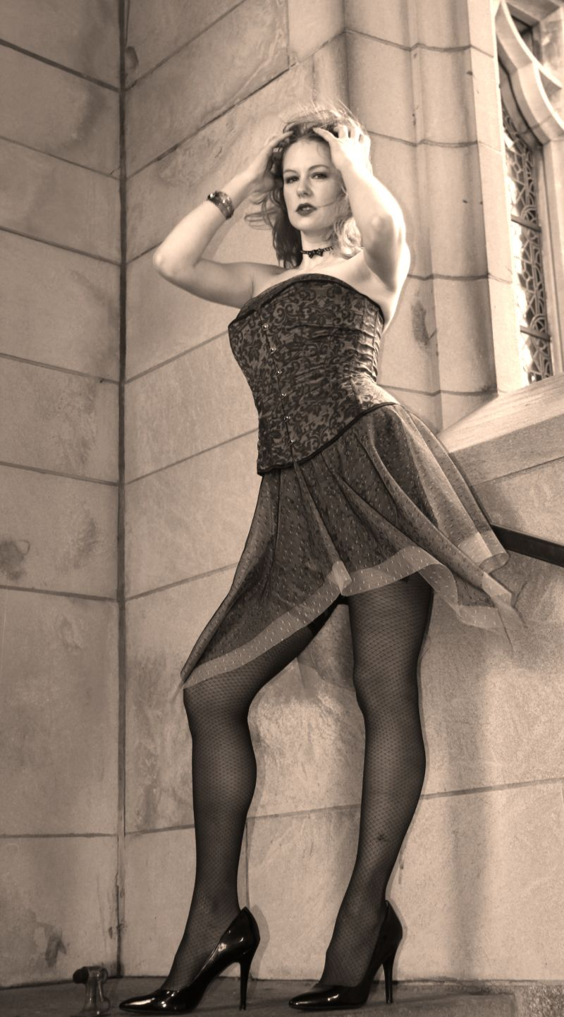 Female model photo shoot of Seregon ODassey in Boston University Chapel, Boston, MA