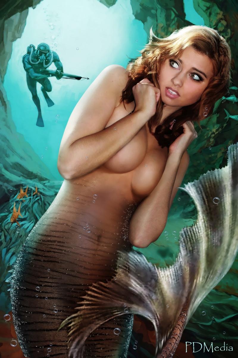 Off the Catalina Coast Jan 03, 2012 PDMedia Mermaid Season (Retouch by Joe Reeves) WINNER Digital Artist of the Day 3-5-14