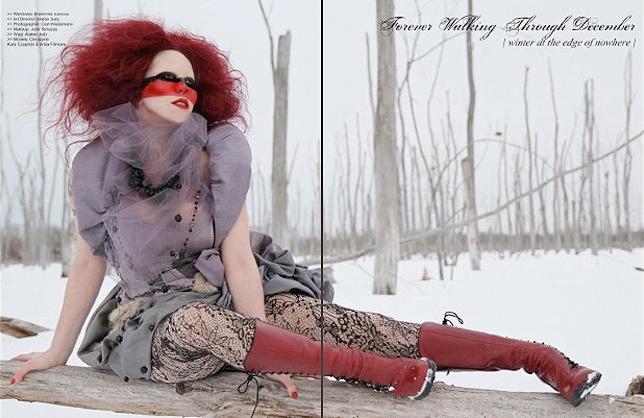 Jan 03, 2012 2011/2012 Chrystyne, Branimira Ivanova, Atalee Judy Filigree Magazine #2 Winter Fashion Editorial. Photo: Carl Wiedemann. Art Director/Wigs: Atalee Judy. Makeup: Chrystyne. Styling: Branimira Ivanova.