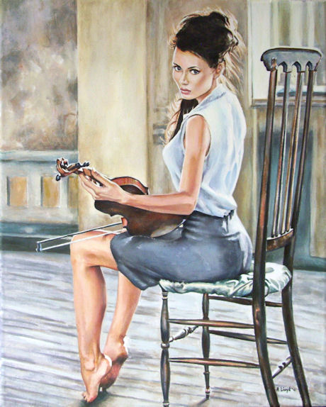 painted in England Jan 06, 2012 Andy Lloyd Anna Grigorenko, The Violinist, acrylic on canvas