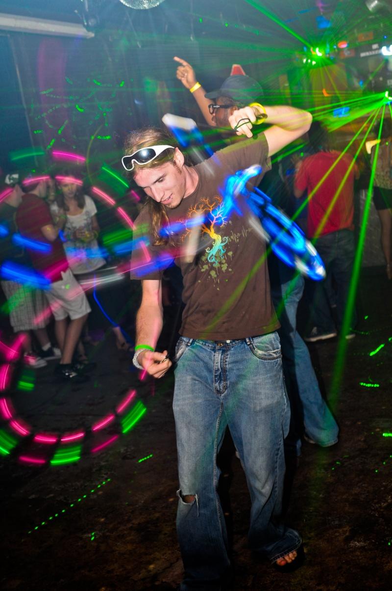 Male model photo shoot of William Brand Photo in Neon Liger, nightclub