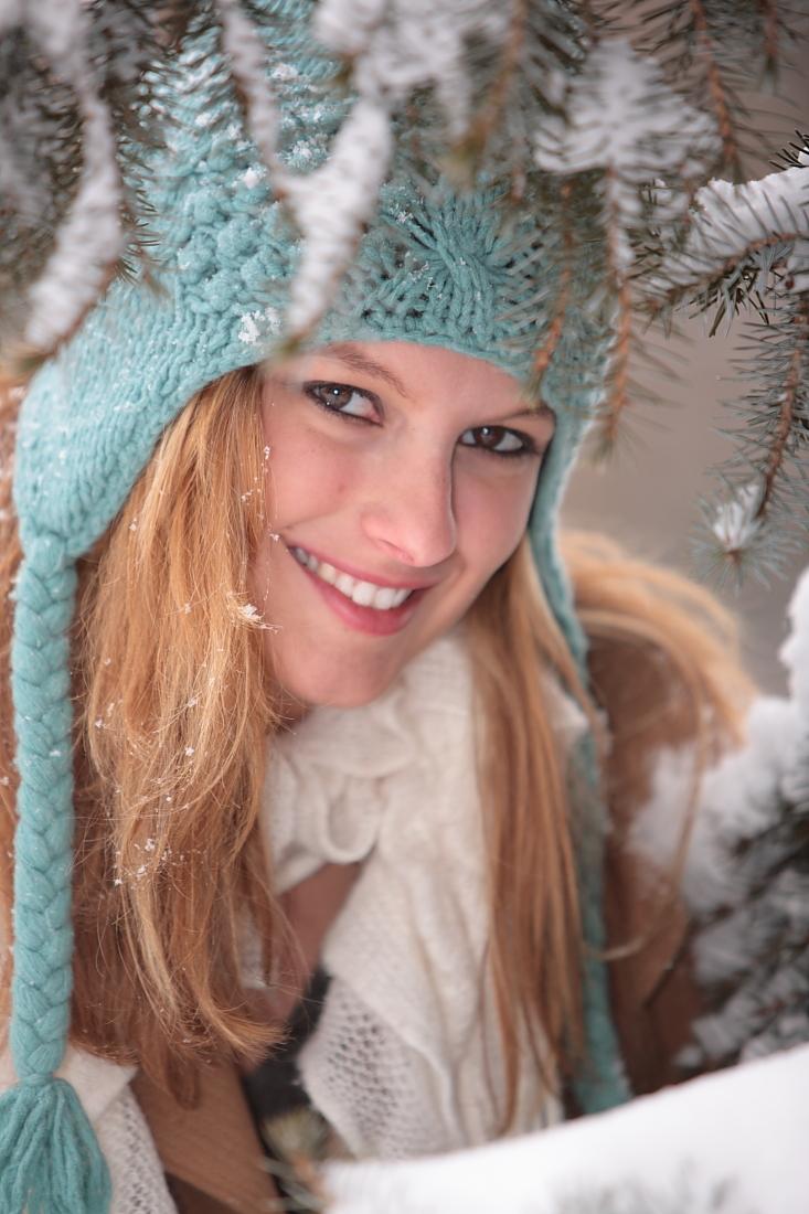 Blacksburg, VA Jan 11, 2012 DGsDigits Ashley all bundled up for the cold and snow.