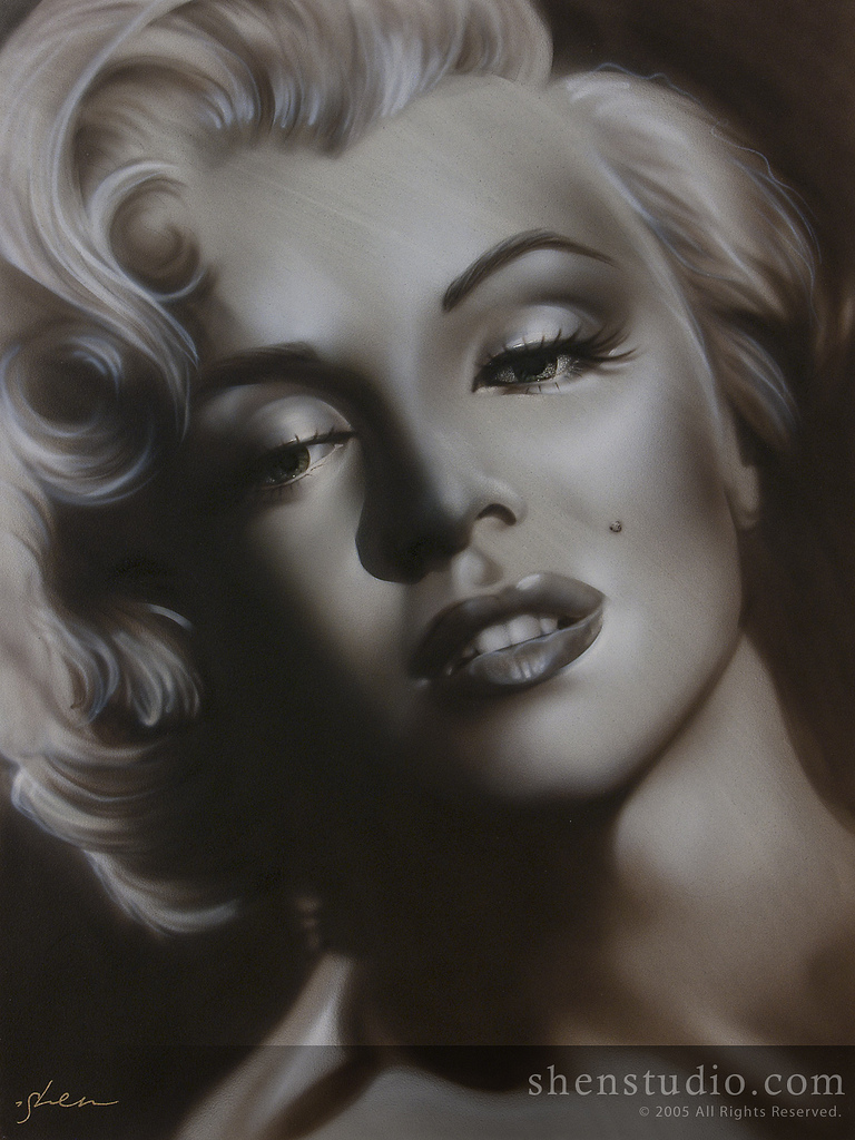 Vail, Co Jan 11, 2012 Visual Reflections Unlimited 2011 Black and White Marilyn