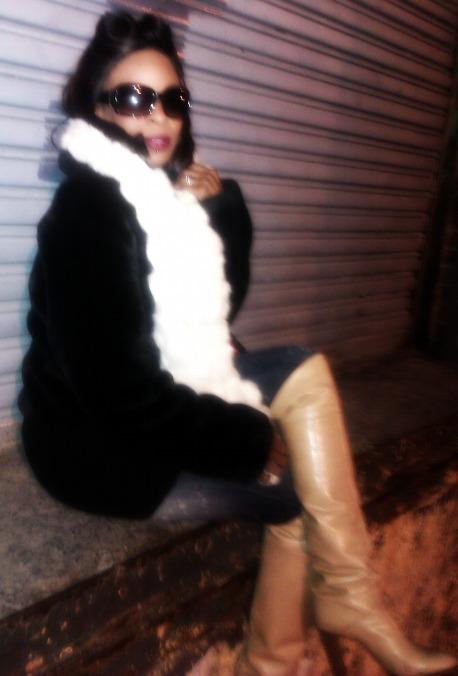 New York Jan 16, 2012 Janell Johnson-Dash, Sha-Della Johnson stylist shot (celltography)