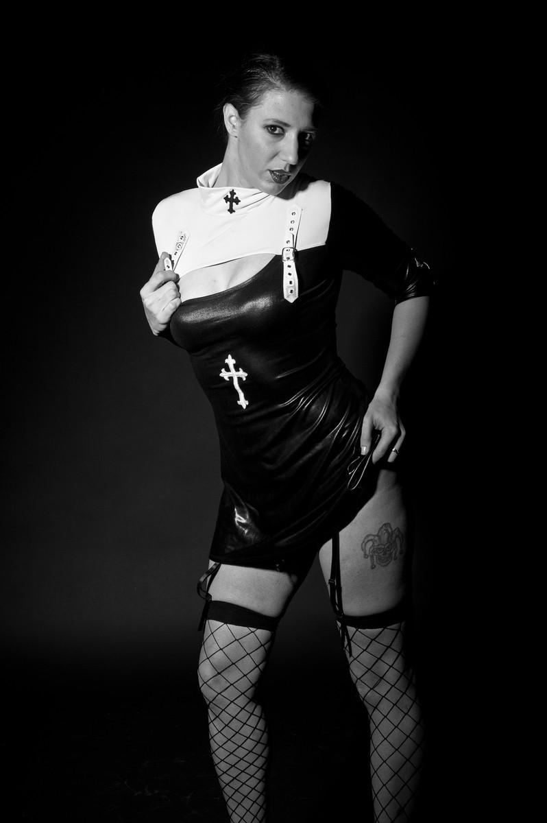 Female model photo shoot of Lisa Marie 1977 by KAOS Studios