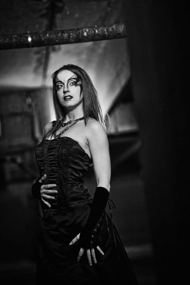 Female model photo shoot of Mango Anthropy by Kefkism Design