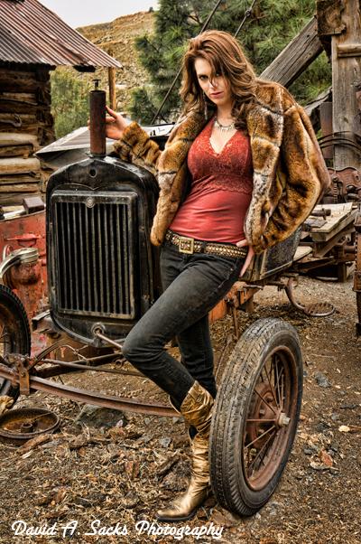 Male and Female model photo shoot of David A Sacks and Michaela Scarla  in Jerome, AZ