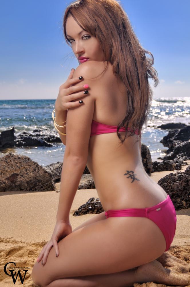 Oahu Feb 05, 2012 beach girl