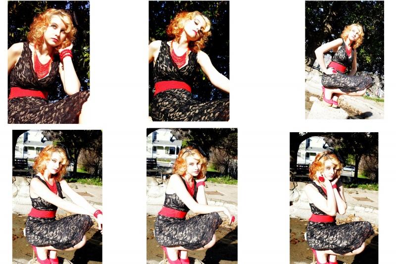 Female model photo shoot of Meleese in Washington park