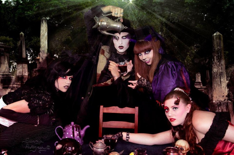 Feb 08, 2012 Silveraya Photography A Gothic Tea Party in Wonderland