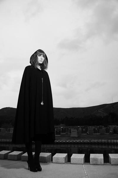 Female model photo shoot of Silvia Noelia  in Cypress Cemetery