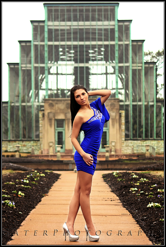 Female model photo shoot of Lauren N Adler by Jesse Gater Photography in Jewel Box, Forest Park, St. Louis, MO