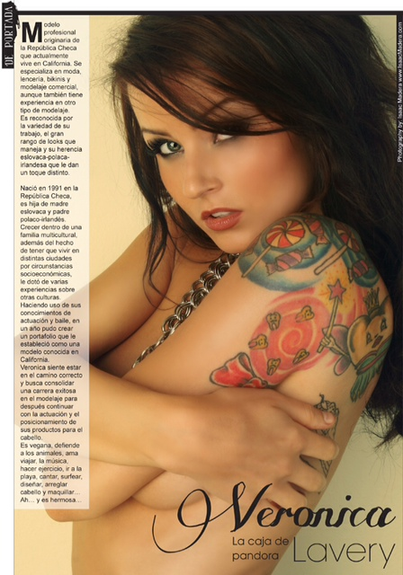 Feb 11, 2012 Tatuajes y Perforaciones (centerfold+poster+cover)issue #131.Feb12 Mexico, Photography by Isaac Madera