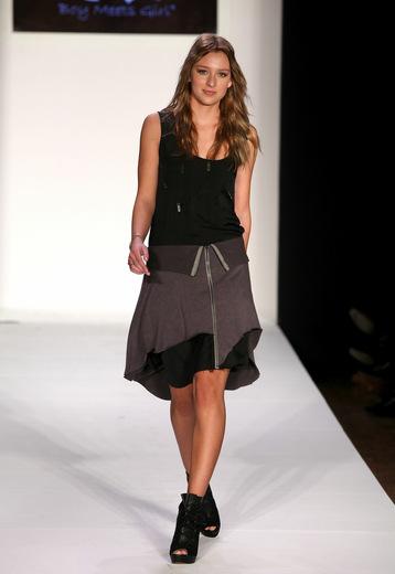 Female model photo shoot of AriannaK in New York Mercedes Benz Fashion Week