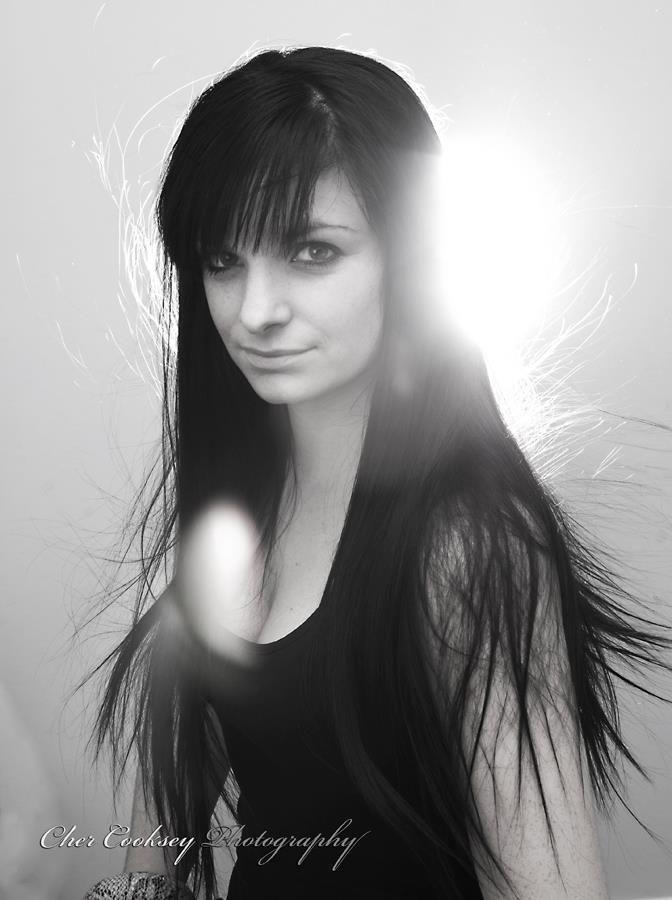 Female model photo shoot of Keri Stephens in studio