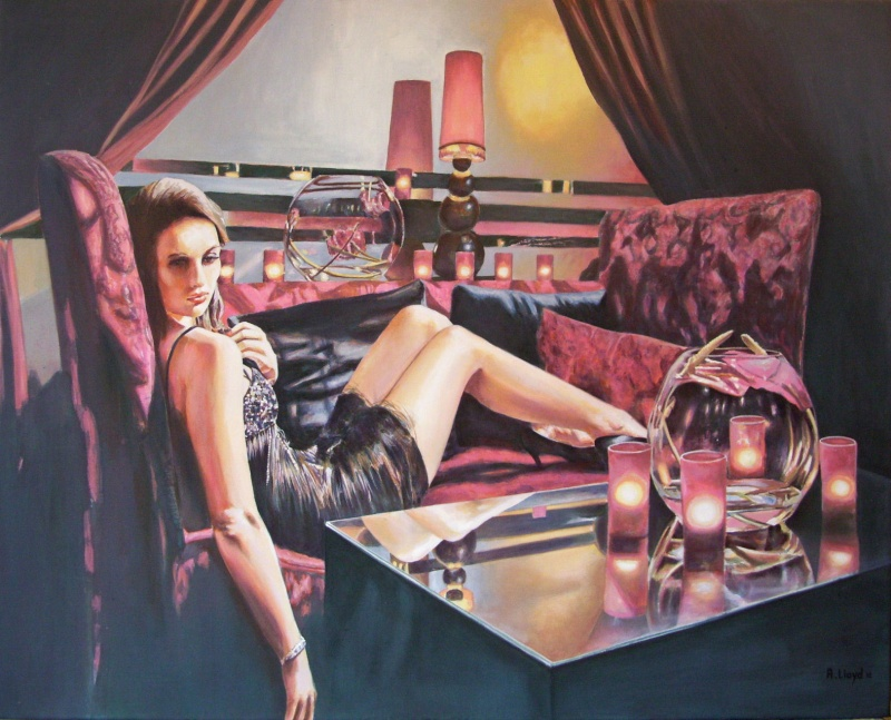 England Feb 27, 2012 Andy Lloyd Burned Again, acrylic on block canvas, 30 x 24