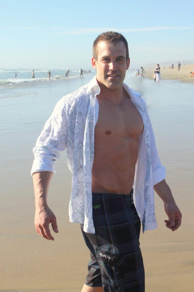Male model photo shoot of Joshua Blank in Huntington Beach