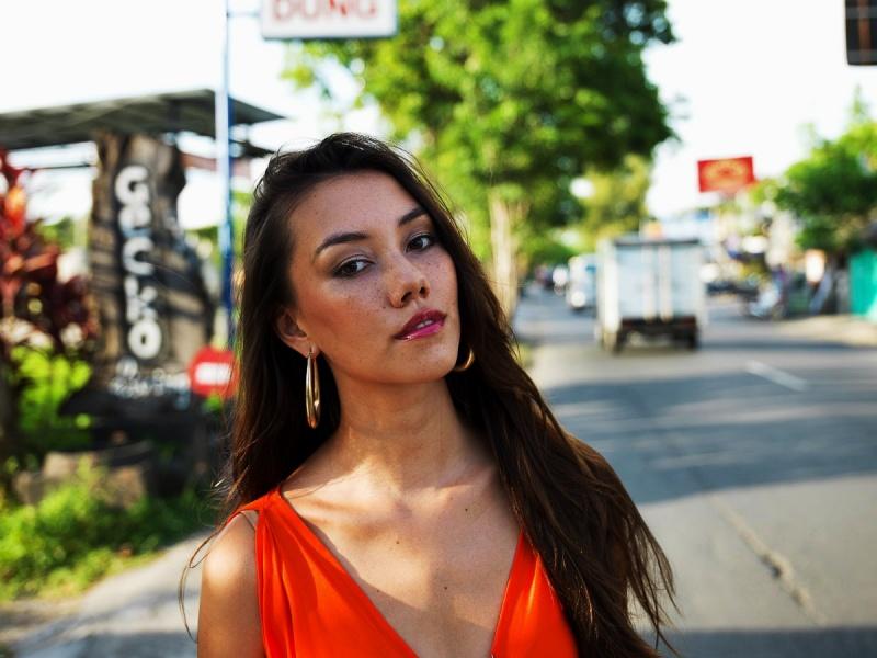 Female model photo shoot of Raquel Alessi in Bali