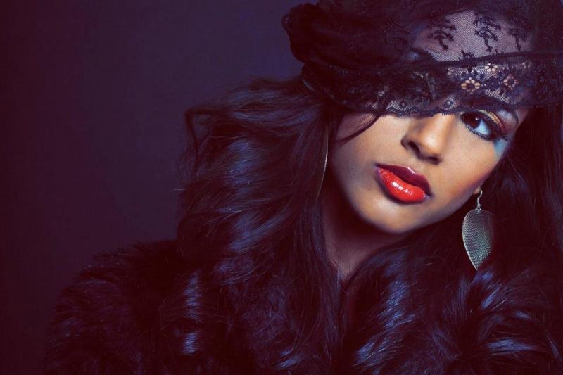 Female model photo shoot of Anousha R in HZV Studios