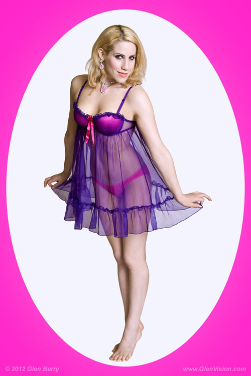 Huntington, WV Mar 04, 2012 Copyright 2012, Glen Berry -- All Rights Reserved Pin-up in Pink and Violet