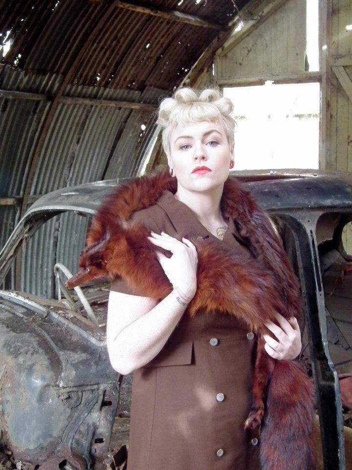 Female model photo shoot of Kitty Wink Vintage