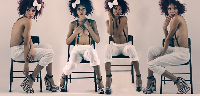Male and Female model photo shoot of FerrisRashad and Bretony, hair styled by Egypt Buck II, makeup by BeautyByScottAlexander