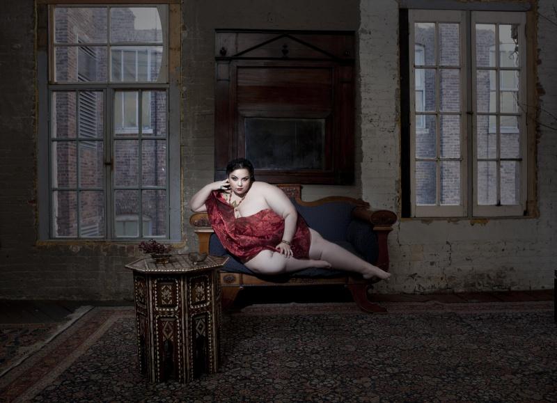 Female model photo shoot of Mockingbird Girl by Elizabeth Raab in NYC, hair styled by Arianecolors