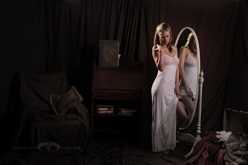 Female model photo shoot of Sarah 89 in The Old Attic