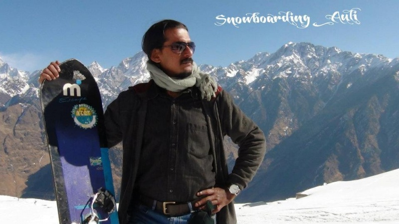Auli, India Mar 24, 2012 csc Me at Auli @ Minus16 C - loving it