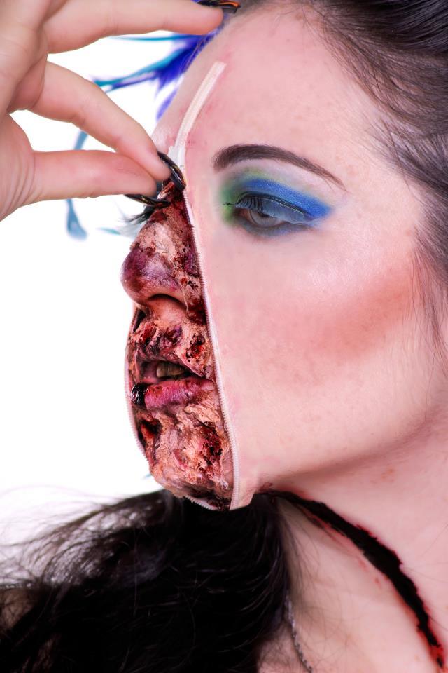 Laura Dark Photography Mar 26, 2012 Beauty makeup done by Deanna Roberts/Makeup Vamp  Fx/zipper work done by myself