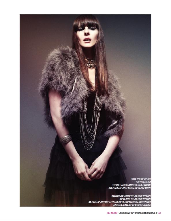 Mar 27, 2012 Clarens Tyson/ MUA : Megan Bedynski Nu-Mode Magazine Issue 5
