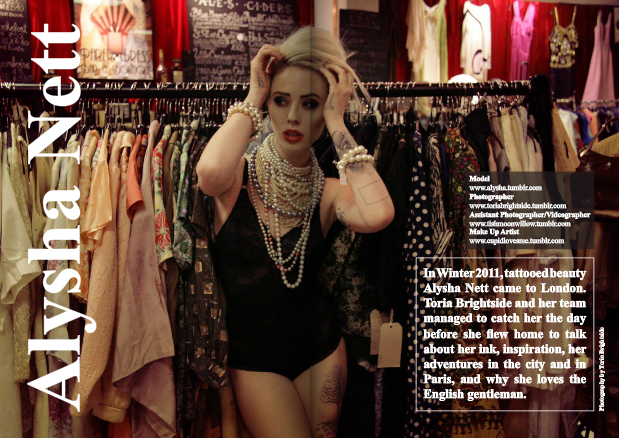 Mar 29, 2012 Toria Brightside 2011 Alysha Nett for Elite Magazine