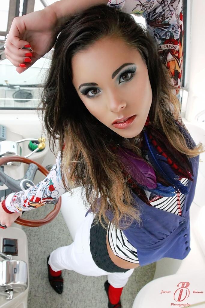 Kemah, TX Mar 31, 2012 James Blount & LaKrew Fashion Get-A-Way  (Model - Gabrielle DeSantis)