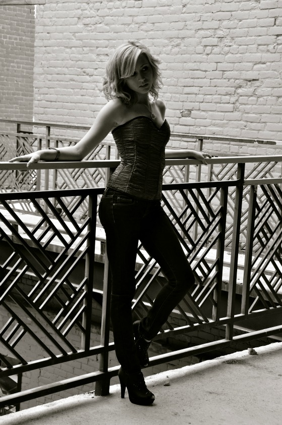 Female model photo shoot of Colbee in Downtown Lynchburg