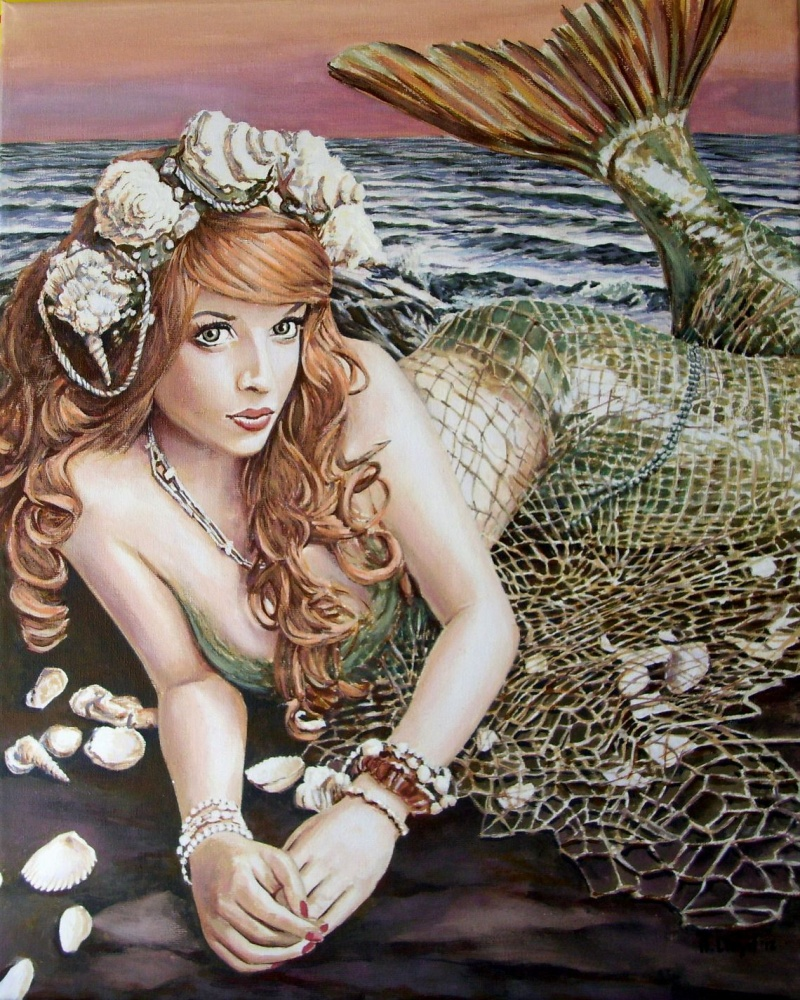 Painted in England Apr 04, 2012 Andy Lloyd Turn Loose the Mermaid, acrylic on canvas