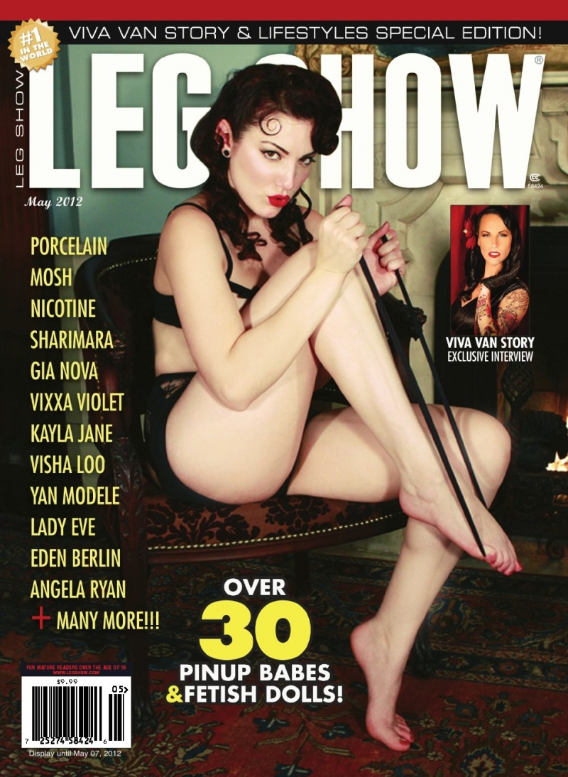 Hair by Erica of Pin Me Up Hair Apr 04, 2012 Porcelain on May Issue of Leg Show (feature of VVS)