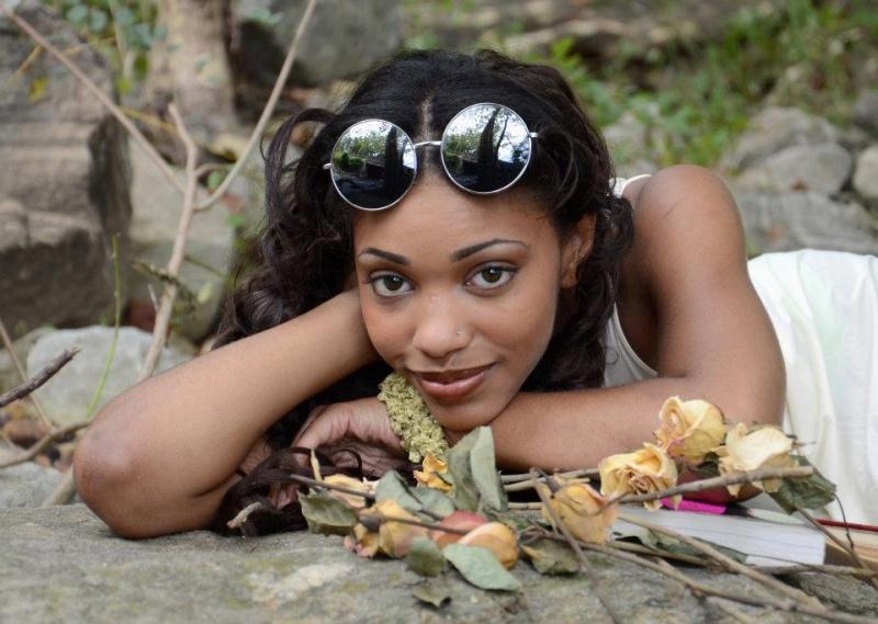 Female model photo shoot of Tearsa Thomas in Falls Rd, baltimore Md