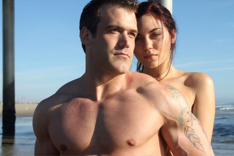 Male model photo shoot of Joshua Blank in Huntington Beach Pier