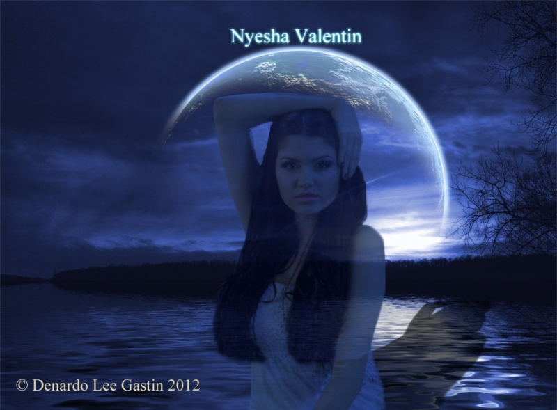 Male and Female model photo shoot of DLGart and Nyesha Valentin
