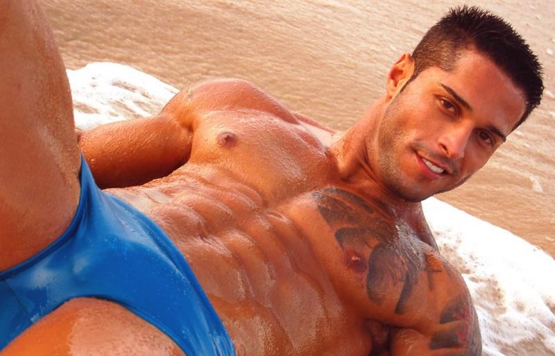 Male model photo shoot of Bruno Miami in South Beach