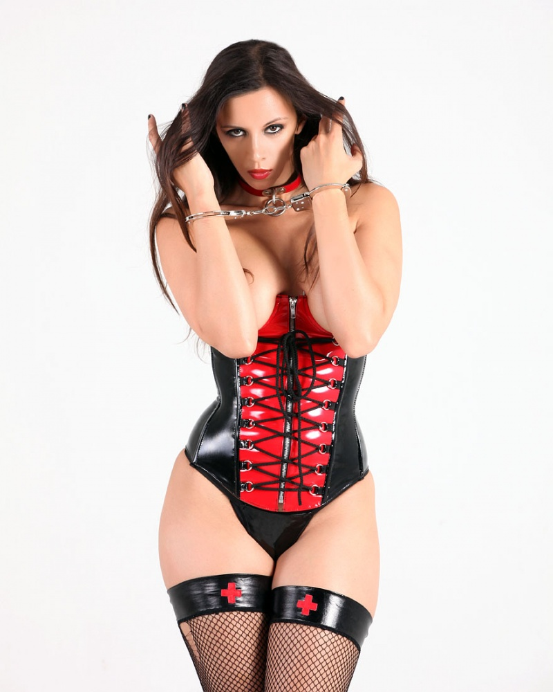cincher by allure liingerie Apr 22, 2012 my phetish kerri taylor red and black vinyl corset
