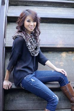 Female model photo shoot of Mimi Newgen in Sf Japanese Garden
