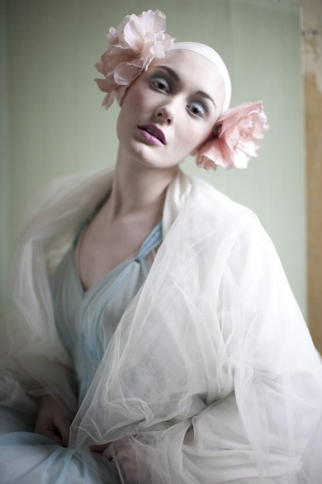 May 06, 2012 Photo by Xanthe Ellis. Model Zana OConnell. MUA Temi Sawyer Aboderin Blue Bunny vintage peignoir