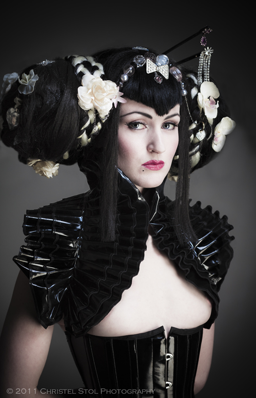 May 06, 2012 by Christel Stol. Model & MUA Anita De Bauch. Styling by Ghoulia Peculia. La Strega PVC shrug